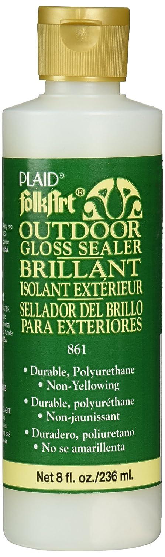 FolkArt K861 Outdoor Sealer (8-Ounce), Gloss Finish Plaid Inc decoart crayola painting crafty