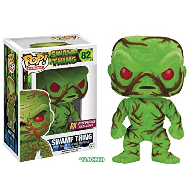 Funko Pop! DC Heroes Swamp Thing Flocked Version Vinyl Figure: Toys & Games
