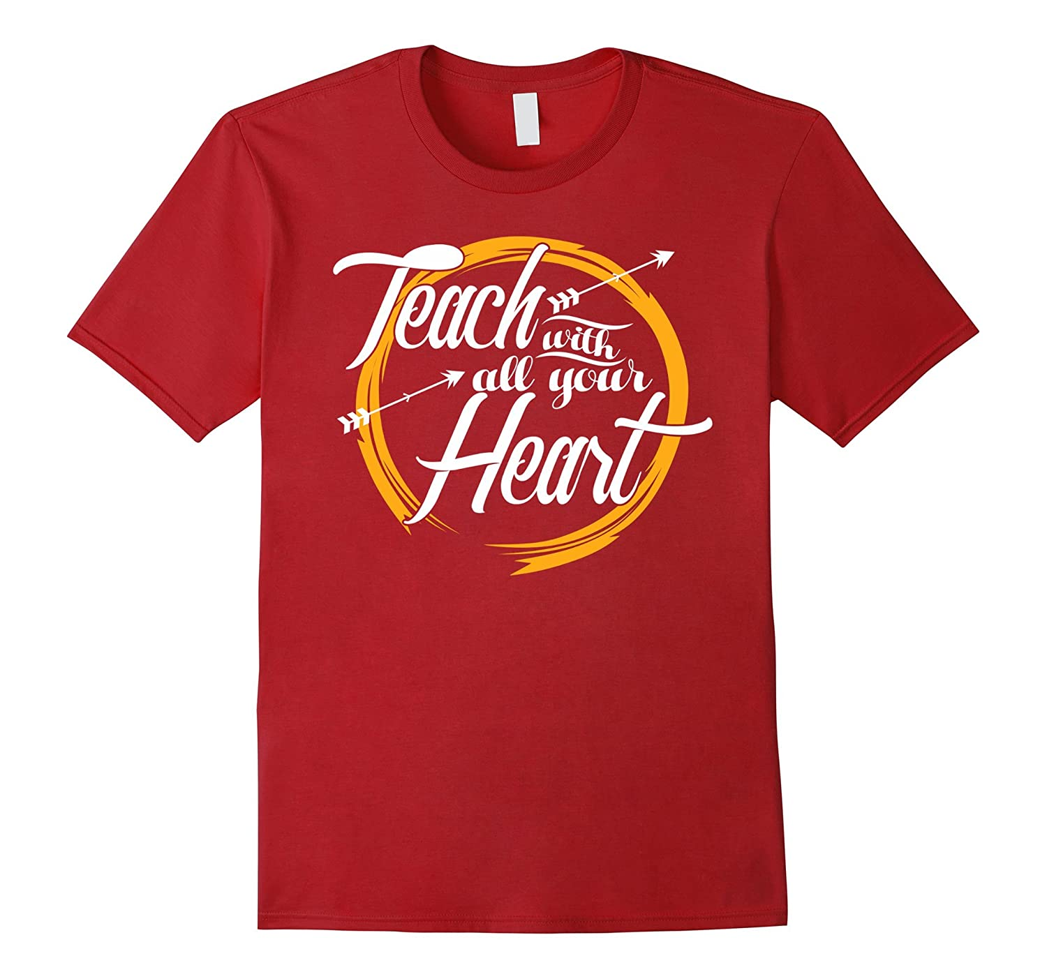 Teach With All Your Heart Shirt Teacher Gifts Personalized-ANZ