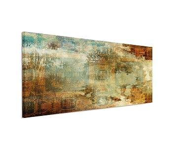 150x50cm Leinwandbild auf Keilrahmen Acryl Malerei abstrakt blau ...