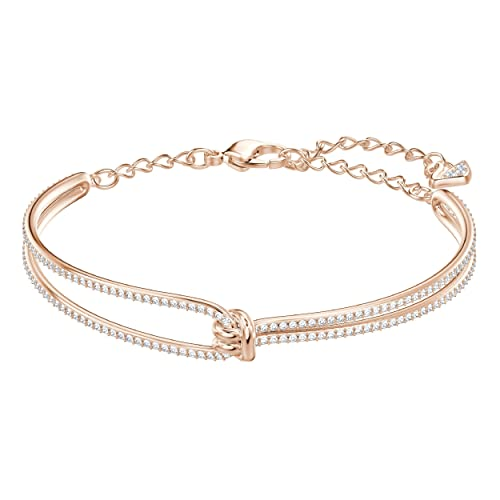 Swarovski Bracciale da Donna Rigido Lifelong, Bianco, Placcato Oro Rosa  Amazon.it Gioielli