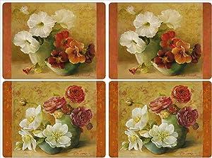 Pimpernel Floral Offering Placemats - Set of 4