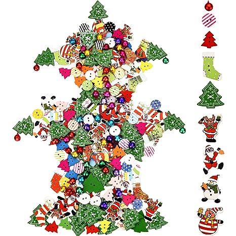 Immagini Piccole Di Natale.Sumind 150 Pezzi Bottone Di Natale Craft Misto Bottone Di