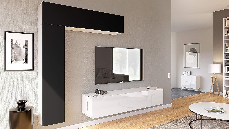 Mueble de Pared Taurito, Cuerpo en Blanco Mate/frentes en Blanco ...