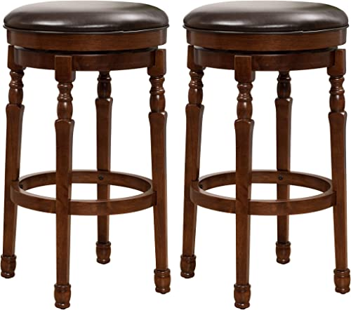 Christopher Knight Home Paxx Bycast Leather Barstools, 2-Pcs Set, Chocolate Brown