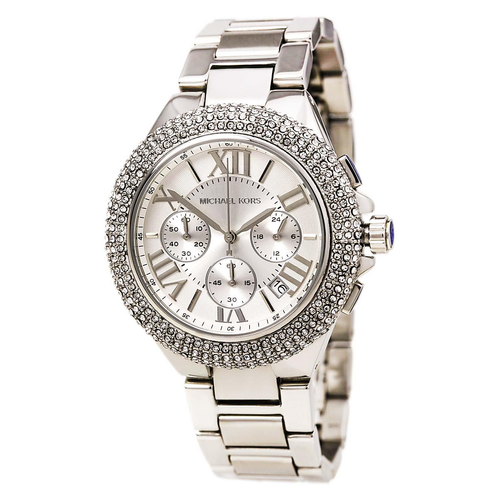 Michael Kors MK5634 Women's Chronograph Camille Stainless Steel Bracelet Watch