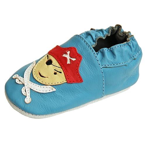 db18080ecd Scarpine in pelle pantofole scarpe neonato con suola in gomma gr.19-31  lappa.de
