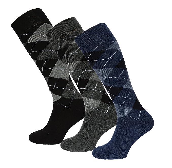 Men Comfort 3 o 6 paia di calze al ginocchio cd340fe0351b