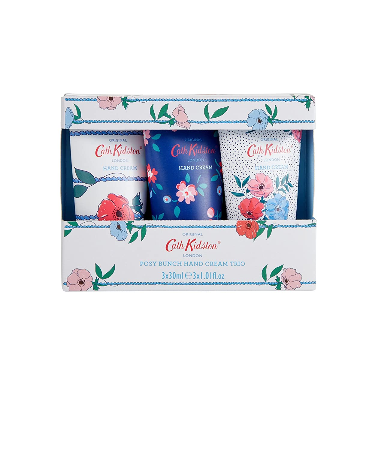 Cath Kidston Posy Bunch Hand Cream, 30 ml, Pack of 3 Heathcote & Ivory FG8900