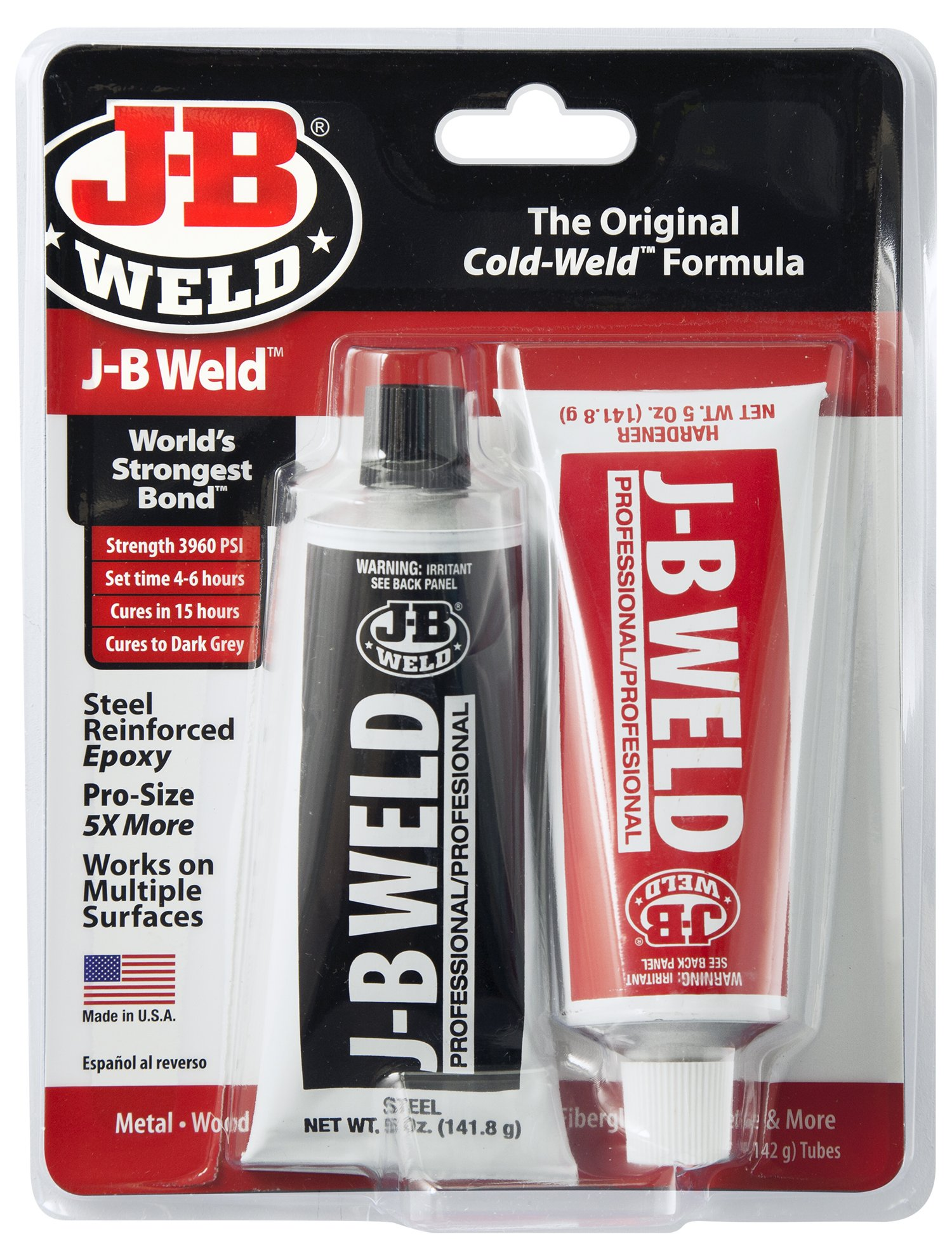 J-B Weld 8281 Professional Size Steel Reinforced Epoxy Twin Pack - 10 oz. product image