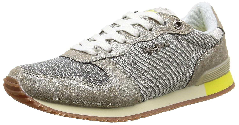Pepe Jeans Gable Caviar - Zapatillas Mujer 37 EU|Plateado (Silver)