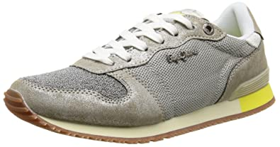 London, Sneakers Basses Femme, Argent (Silver), 38 (EU)Pepe Jeans London