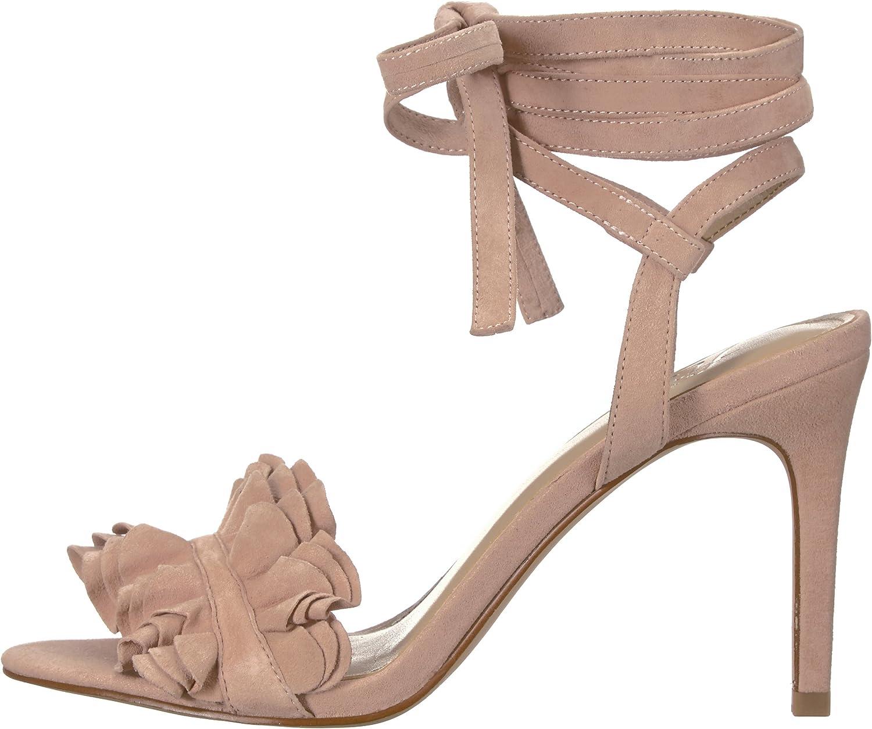 The Fix Womens Cantu Ruffle Ankle Wrap Dress Sandal Brand 6 B US Petal Blush