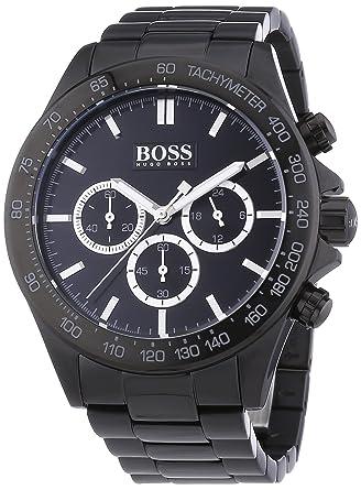 a48d6a16eb4 Image Unavailable. Image not available for. Color  Hugo Boss Black Dial SS  Chronograph Quartz Men s Watch 1512961