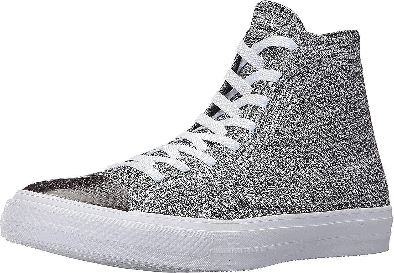 Converse Chuck Taylor All Star X Nike Flyknit Hi Top BlackWolf GreyWhite
