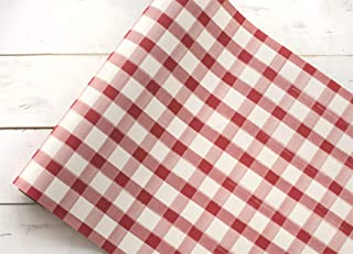 """product image for Hester and Cook 20"""" Red Painted Check Paper Runner"""