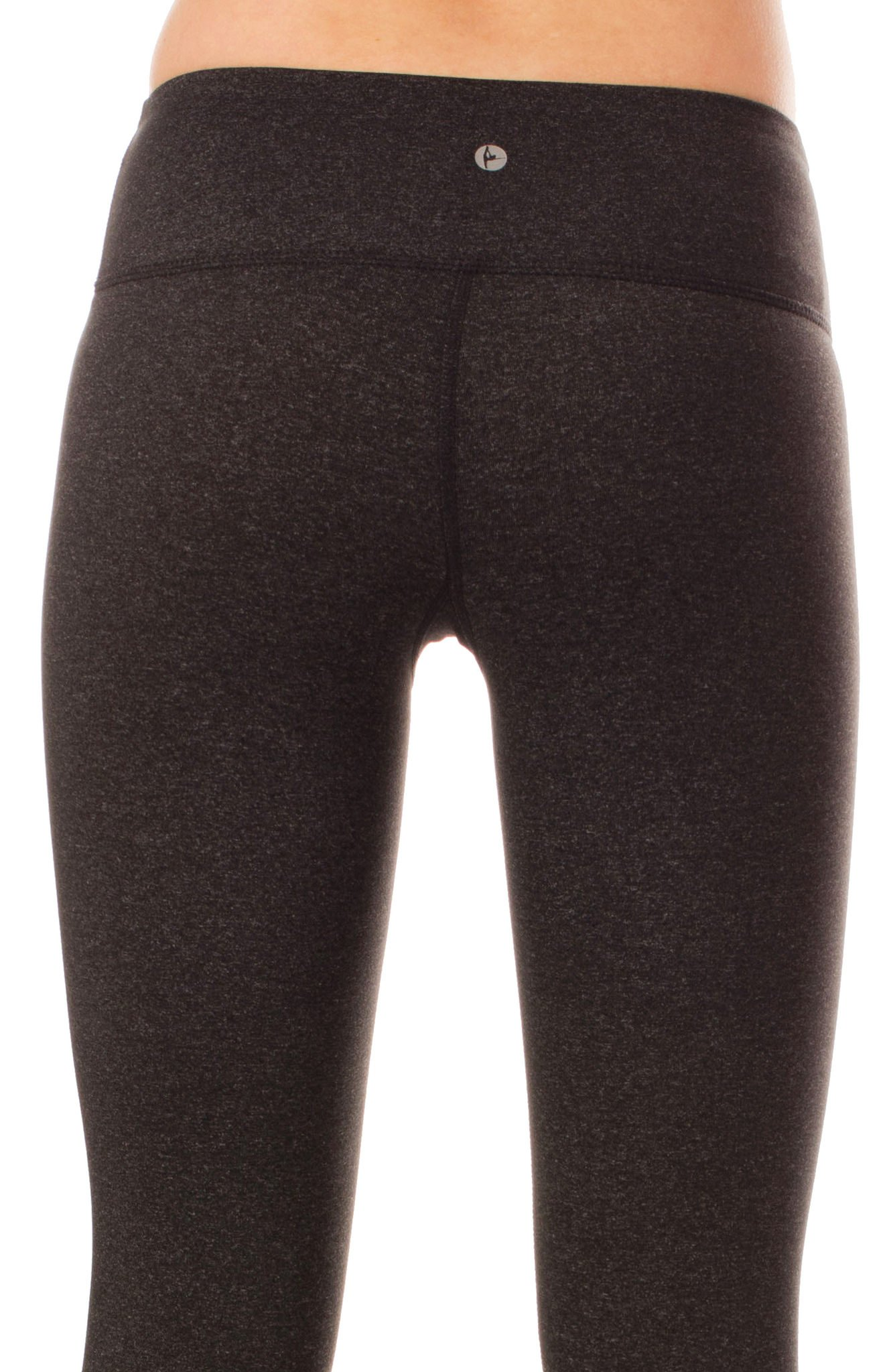 90 Degree By Reflex – Power Flex Yoga Capri – Cationic Heather Activewear Pants - Heather Charcoal XS by 90 Degree By Reflex (Image #5)