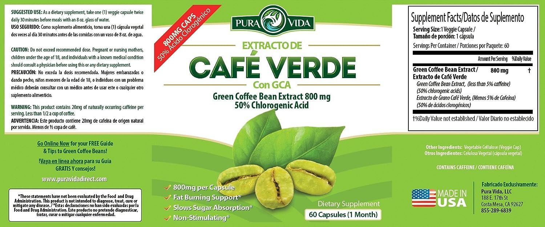 precio del cafe verde para adelgazar