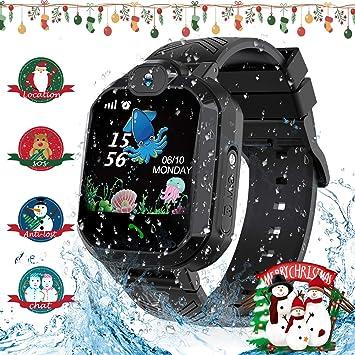 Jaybest Smartwatch Niños - Reloj Inteligente para Niños con rastreador de LBS con Linterna de Llamada SOS cámara Pantalla táctil Juego Smartwatch ...