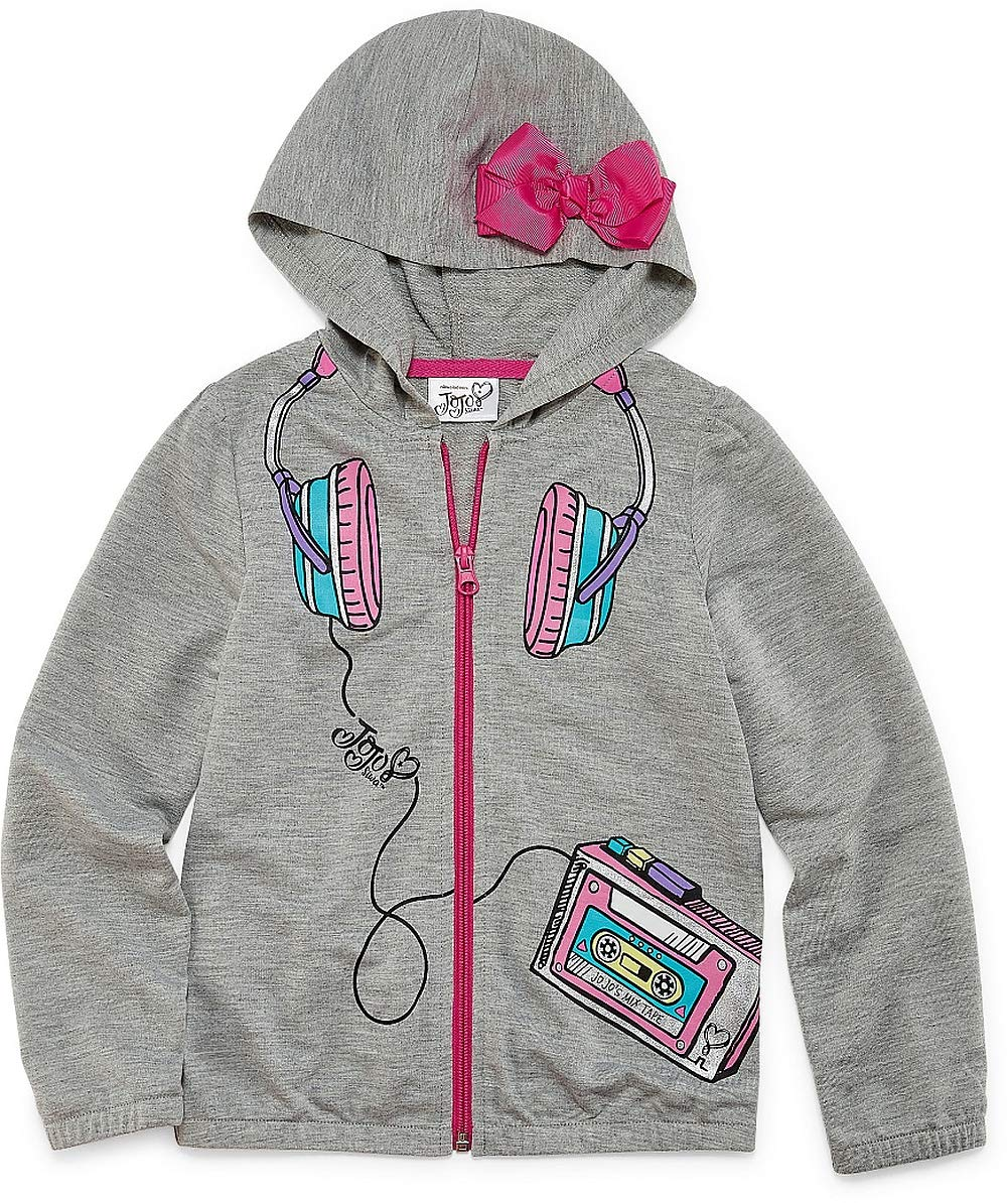 JoJo Siwa Hoodie for Girls Pink Bow Hooded Jacket Coat Lightweight (6-6X)