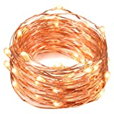 Amazon Price History for:String Lights, Oak Leaf 2 Set of Micro 30 LEDs Super Bright Warm White Led Rope Lights Battery Operated on 9.8 Ft Long Ultra Thin String Copper For Home Bedroom Party