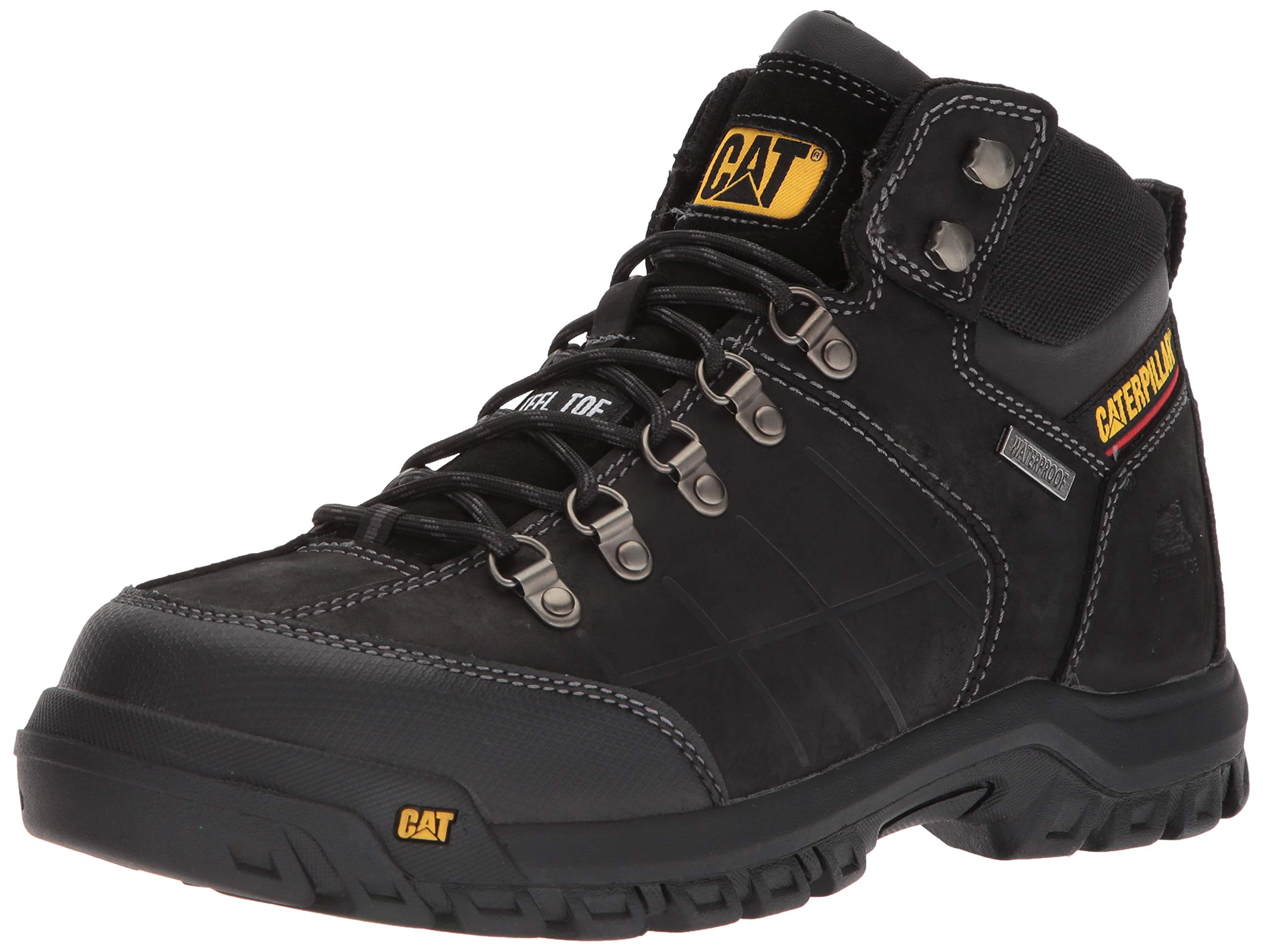 Caterpillar Men's Threshold Waterproof Steel Toe Industrial Boot, Black, 10.5 M US by Caterpillar