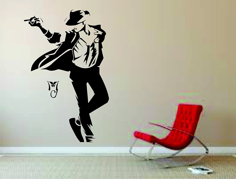 Michael Jackson Wall Mural Vinyl Decal Sticker Decor King Pop Singer Moon Walk