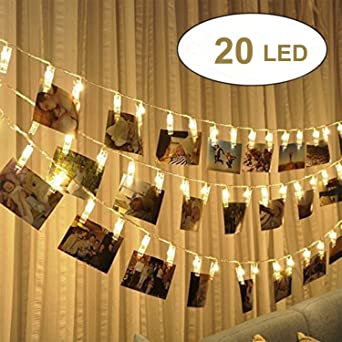 20 LEDs Foto Clips Lichterketten, 2.4 Meters Lichterkette Fotos, Led Licht  Lichterkette Für Bilder