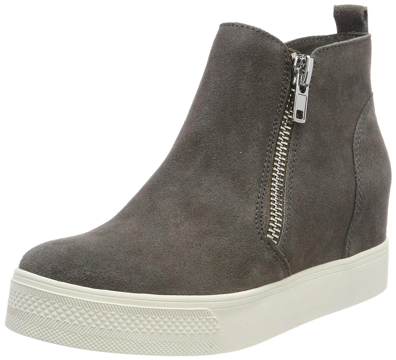 Steve Madden Wedgie Sneaker, Zapatillas Altas para Mujer 37 EU|Gris (Grey 12001)