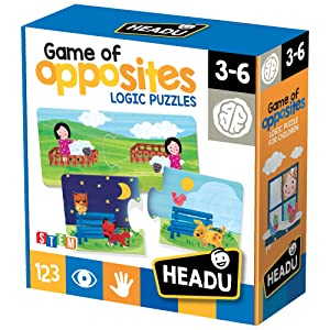 Headu Headu-IT20805 Puzzle 1041738-Game of Opposites-Juego Educativo Infantil lógica Stem, Multicolor (IT20805)