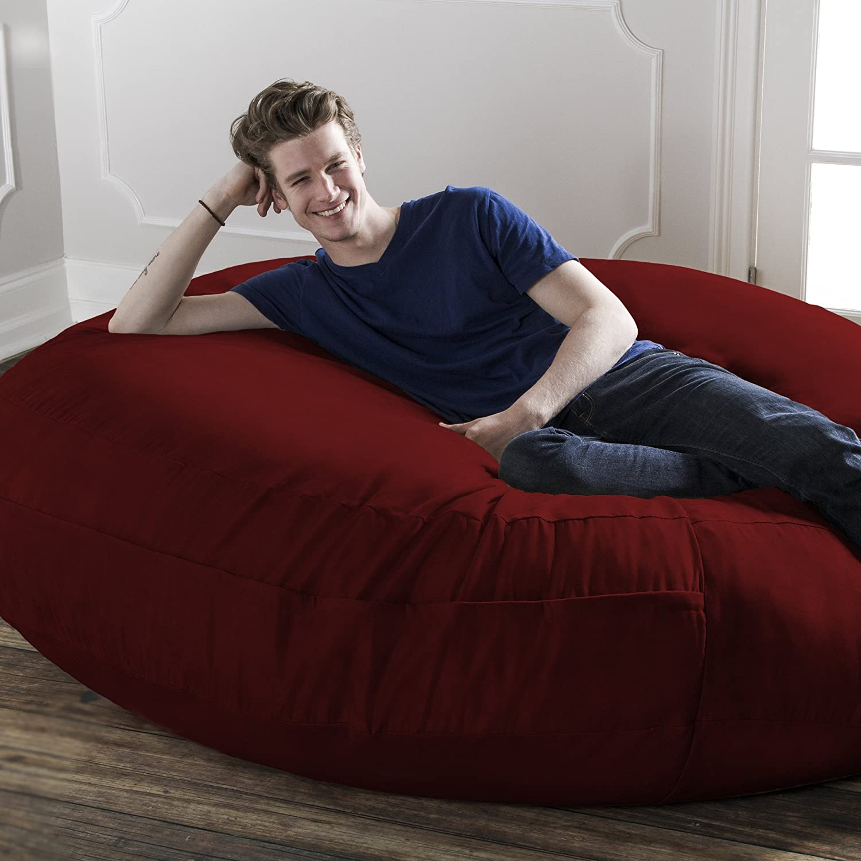 Amazon Jaxx 6 Foot Cocoon Bean Bag Chair for Adults