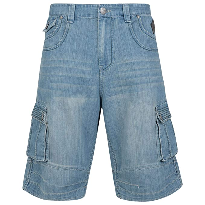 Mens New Big Size Shorts Kam Mario In Blue Wash Colours Size 40 To 60