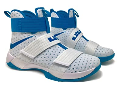 hot sale online 76c9d 0b8fb Nike Lebron Soldier 10 Mens Basketball Shoes (13, White ...