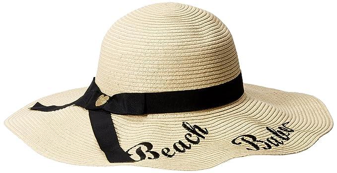 539b5f1682ae6 Betsey Johnson Women s Beach Babe Floppy Hat