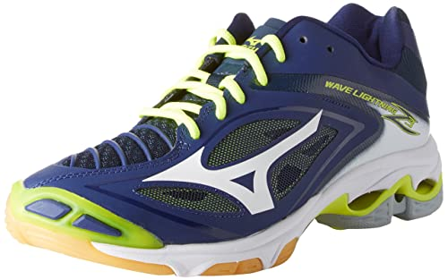 innovative design 421cc 52c37 Mizuno Men s s Wave Lightning Z3 Volleyball Shoes Multicolor  (Bluedepths White safetyyellow) 7