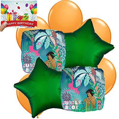 Jungle Book Birthday Party Supplies Balloon Decoration Bundle: Toys & Games