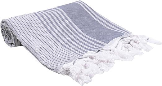 ZOLLNER Toalla Playa Pareo Mujer, 90x170 cm, algodón, azúl ...