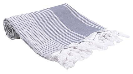 ZOLLNER Toalla turca para Playa y Piscina Pareo, 90x170 cm, algodón, a Rayas