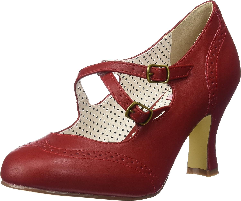 TALLA 37 EU. Pin Up Couture Flapper-35, Zapatos de tacón con Punta Cerrada para Mujer