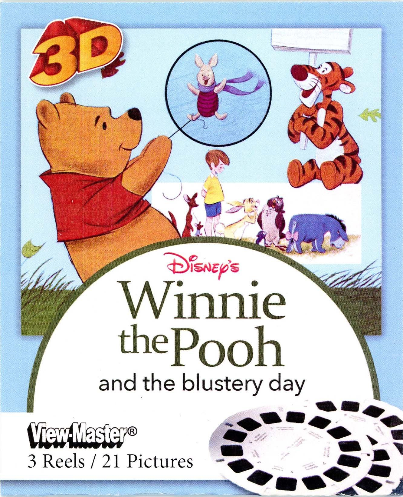 Disney's Winnie the Pooh and the Blustery Day 3d View-Master 3 Reel Set