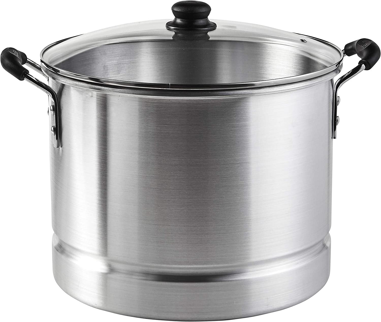 IMUSA USA Aluminum Tamale and Steamer Steamer Pot 32-Quart Silver
