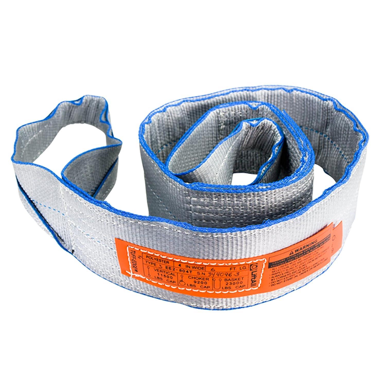 Lift-All EE2804TFX30 4 x 30 2 Ply Type 3 Tuff-Edge II Polyester Flat Eye to Eye Web Sling