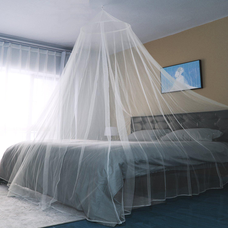 Sekey - Zanzariera per letto singolo e doppio, in rete, con zanzariera, facile e veloce da installare