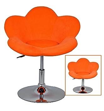 Barhocker Orange 1x barhocker orange blume in blumenform lounge sessel barsessel