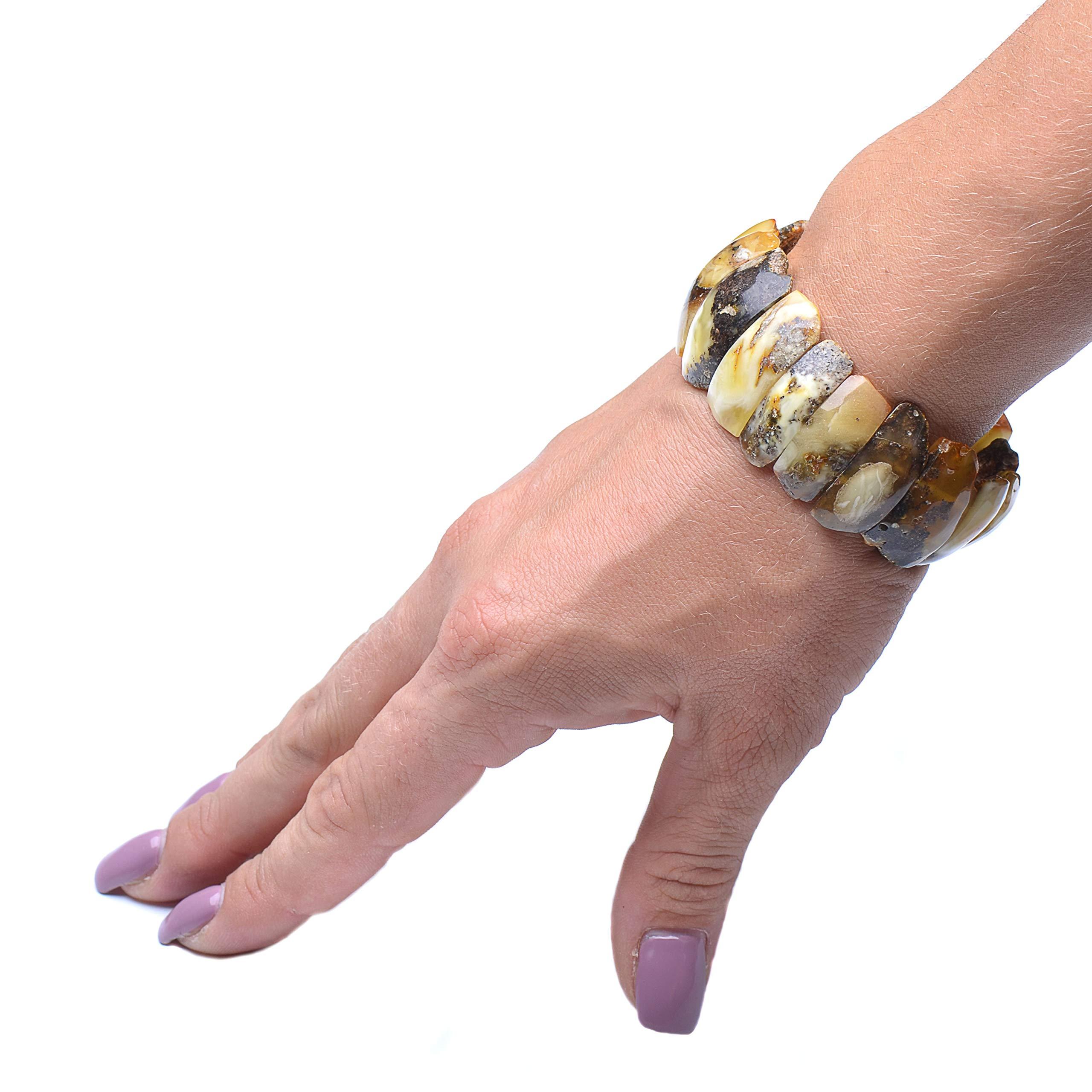 Colorful Amber Bracelet - Vintage Bracelet - Amber Bracelet - Vintage Amber Bracelet - Baltic Amber Bracelet by Genuine Amber (Image #6)