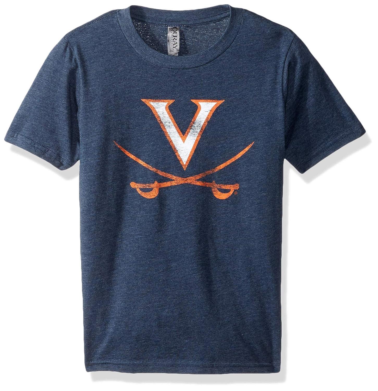 X-Large NCAA Virginia Cavaliers Youth Vintage Sheer Short Sleeve Tee Midnight Navy