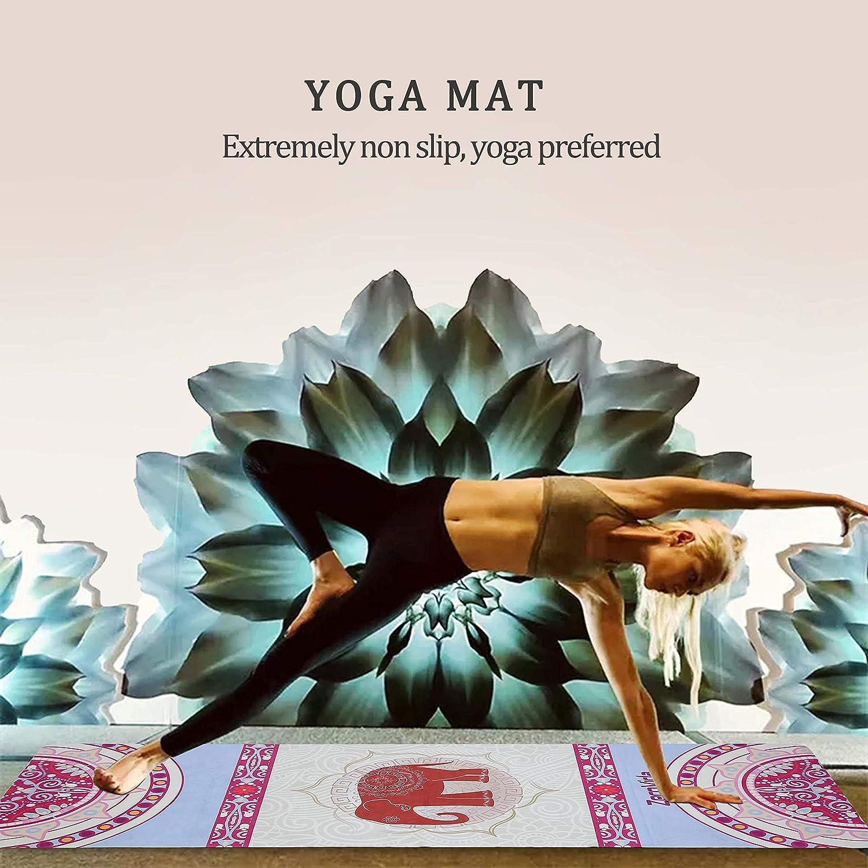 ZEROVIDA Colchoneta de Yoga 1.5mm Yoga Mat Caucho Natural 100% con Gamuza Ecológica Esterilla de Yoga Profesional Lujoso Antideslizante para Hot Yoga ...