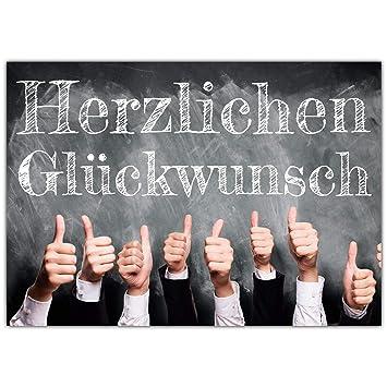 A4 Xxl Glückwunschkarte Daumen Hoch Mit Umschlag Edle Klappkarte
