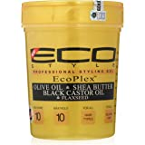 Eco Style Gold Olive Oil & Shea Butter & Black Castor Oil & Flaxseed 32oz