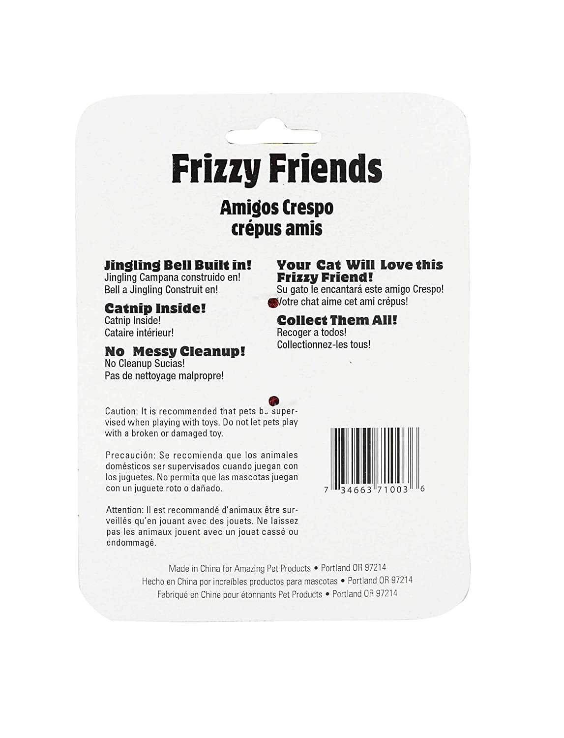Amazon.com : Amazing Pet Products Frizzy Friends, Catnip Toy with Bell, Red : Pet Supplies